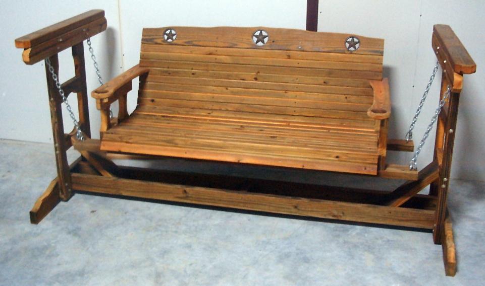 Cedar Creek Wood Porch Swing
